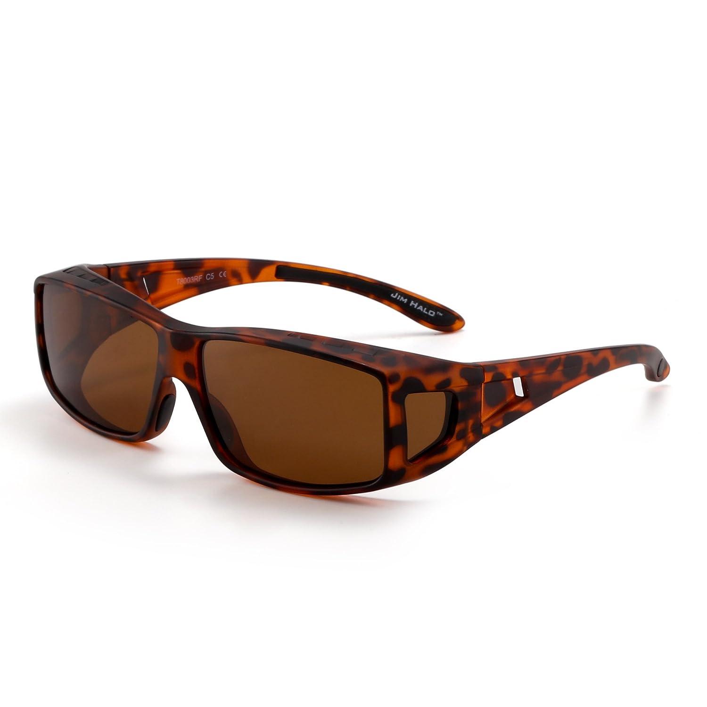 Jim Halo Gafas de Sol Polarizadas Fit Over Desgaste Conducción Nocturna Anteojos Hombre Mujer