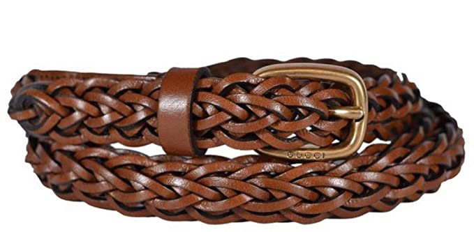 e37e5f51046 Image Unavailable. Image not available for. Color  Gucci Women s Braided  Leather Belt ...