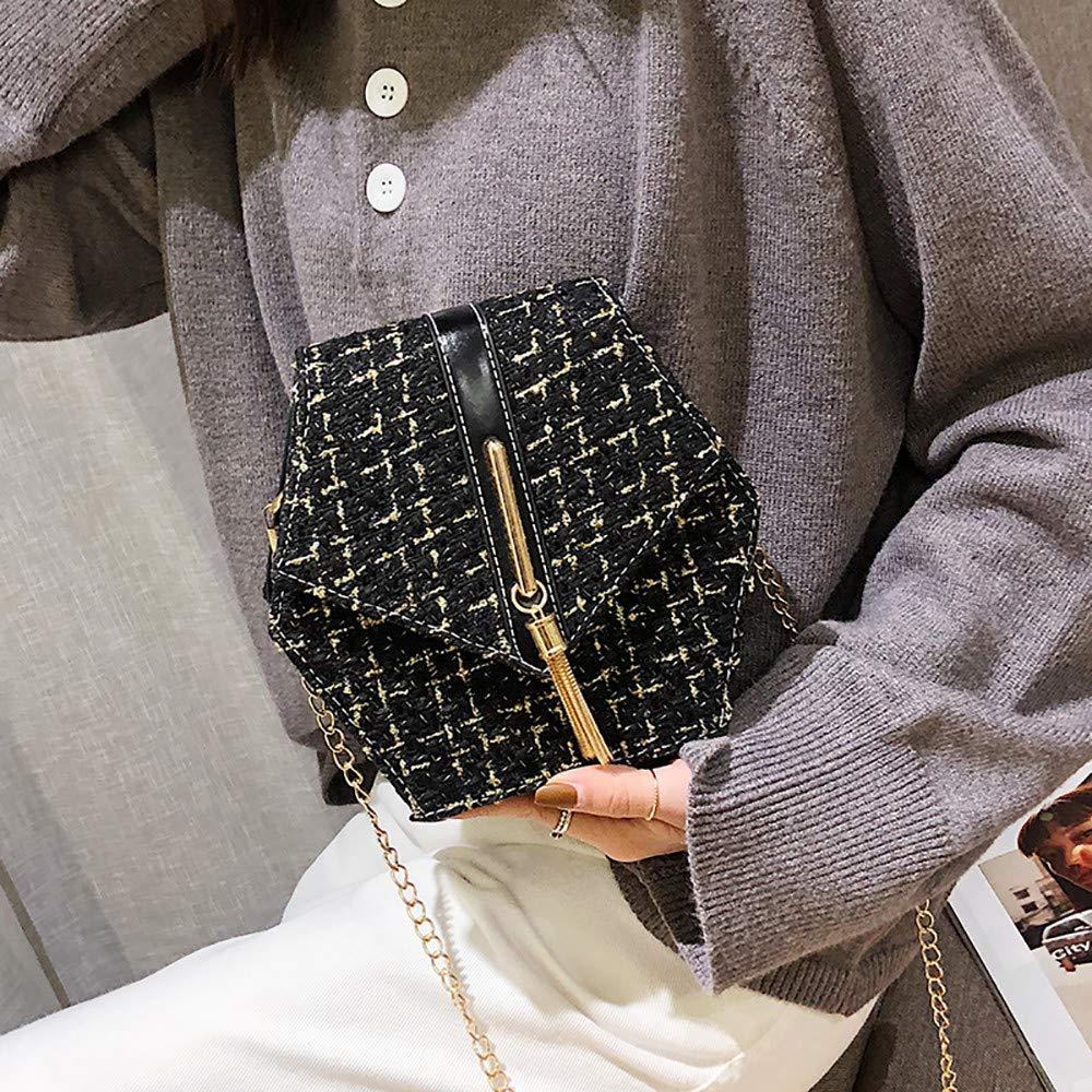 Muium 3 Colori Piccola Lana Borse Crossbody e Borse con Tracolla per Le Donne Borse a Spalla Borse a Mano Tote Bag Hand Bag Portafoglio Pochette Nera,Rosa,Beige