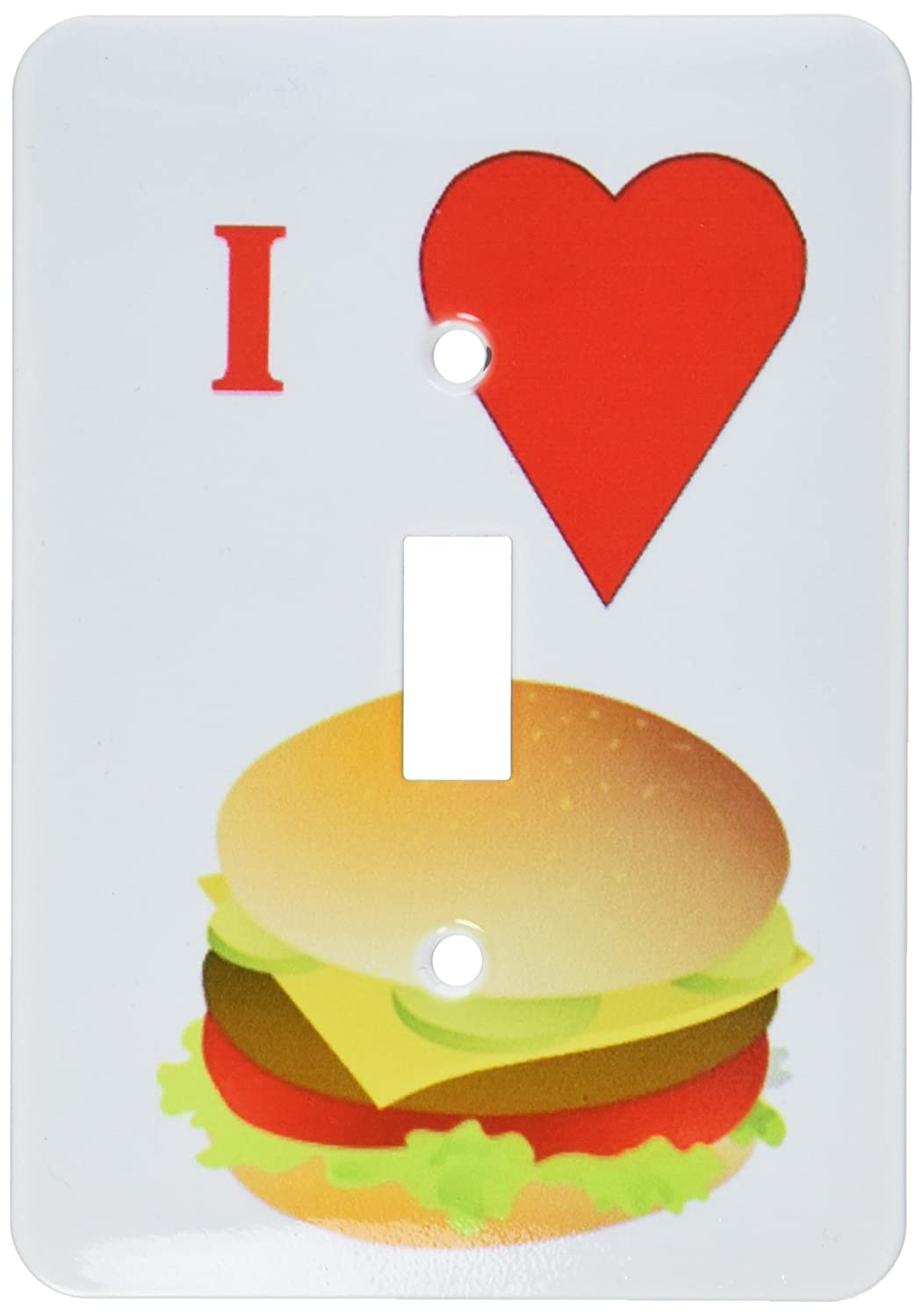 3dRose lsp_60641_1 I Love Cheeseburgers Single Toggle Switch