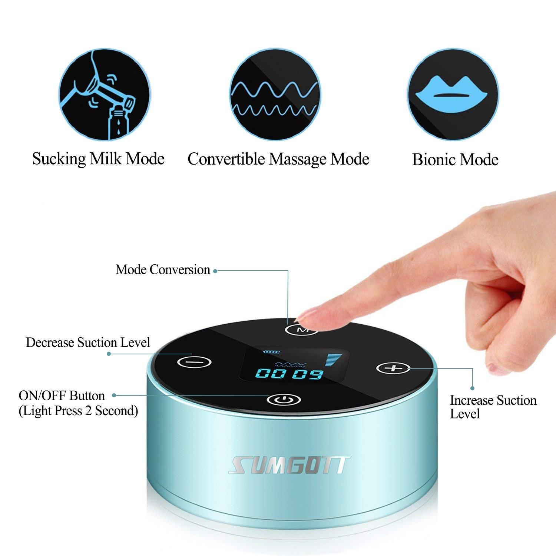 ricaricabile Portatile tiralatte elettrico professionale con schermo LCD Smart Touch SUMGOTT tiralatte elettrico