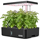 iDOO Hydroponics Growing System, 12Pods Indoor Herb Garden with Grow Light, Germination Kit with Air System, Automatic Timer,