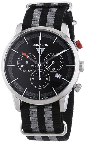 Junkers Watches - Reloj de Cuarzo para Hombre, Correa de Tela Color: Amazon.es: Relojes
