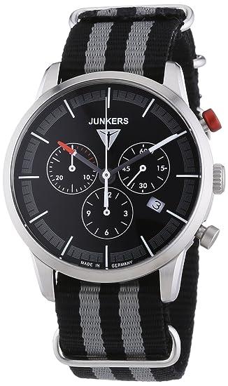 Junkers Watches - Reloj de Cuarzo para Hombre, correa de Tela color Multicolor: Amazon.es: Relojes