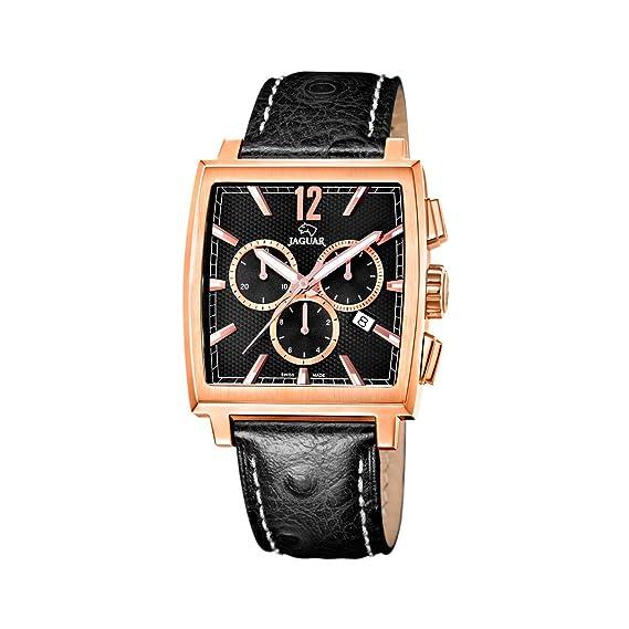 Jaguar 634/3 - Reloj de caballero de cuarzo, correa de piel color negro: Amazon.es: Relojes