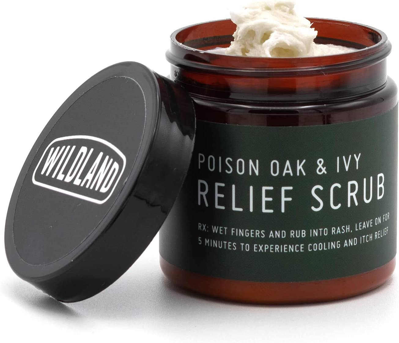Wildland Poison Oak and Poison Ivy Itch Relief Treatment Scrub | Provides Immediate Itch Relief - Extremely Effective | Lets You Sleep When You Have The Rash | Natural Ingredients (4 oz)