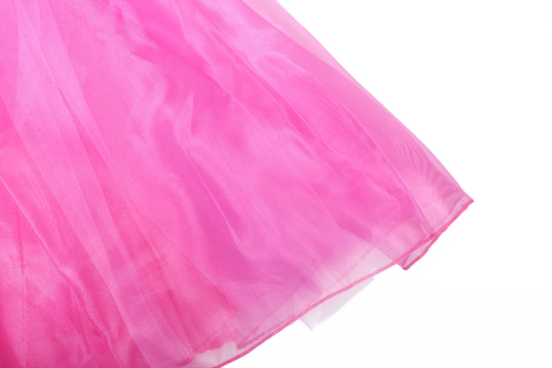 ReliBeauty Girls Drop Shoulder Princess Aurora Costume Dress up, Hot Pink, 7-8 by ReliBeauty (Image #3)