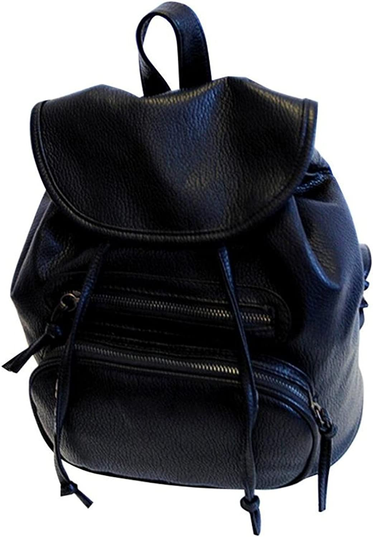 teachay Fashionable Women Girls Leather Backpacks School Shoulder Bag Travel Satchel