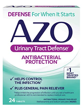AZO Urinary Tract Defense Antibacterial Protection | Helps Control a UTI  Until You Can See a Doctor | #1