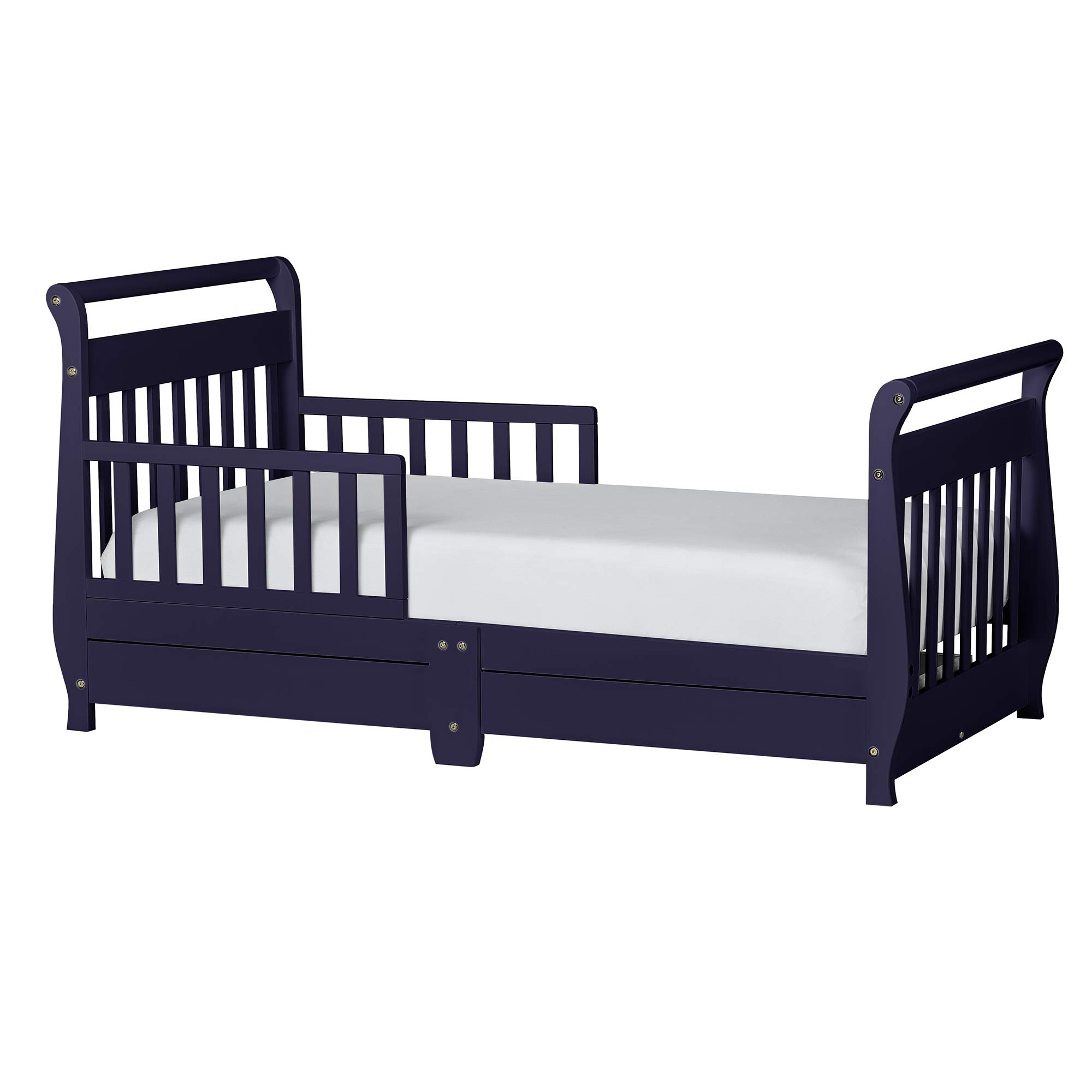 Dream On Me Sleigh Toddler Bed w/Storage Drawer, Navy by Dream On Me