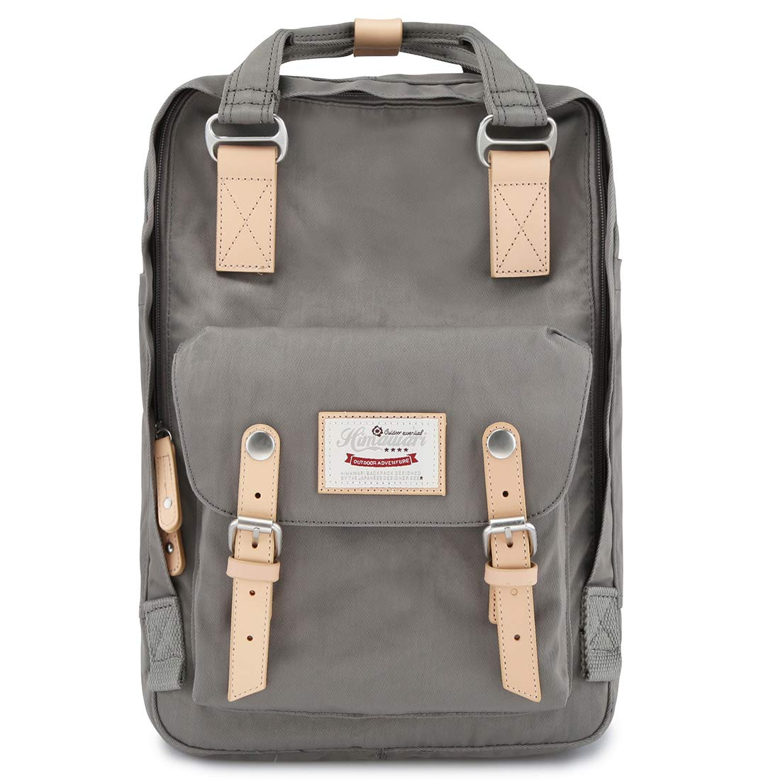 Himawari School Laptop Backpack for College Large 17 inch Computer Notebook Bag Travel Business Backpack for Men Women, Grey by himawari