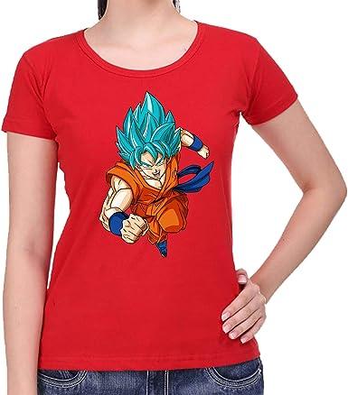The Fan Tee Camiseta de Mujer Dragon Ball Goku Vegeta Bolas de Dragon Super Saiyan 076: Amazon.es: Ropa y accesorios