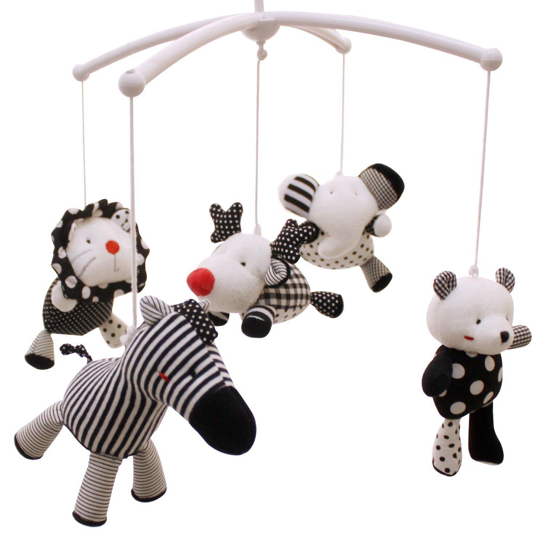 SHILOH Baby Infant Crib Stroller DIY Mobile Hanging Dolls Set 5 PCS (Zoo Animals)