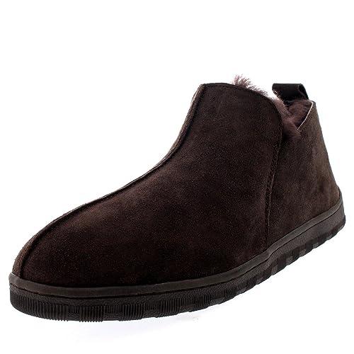 3214d534212c5 Polar Hombre Australian Piel De Carnero Auténtico Forrada De Piel Botas  Zapatillas  Amazon.es  Zapatos y complementos
