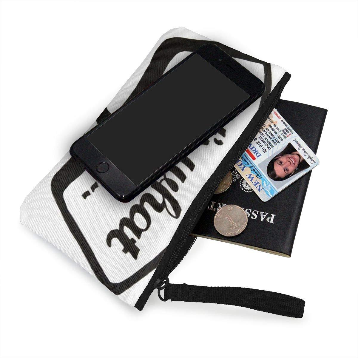 Canvas Cash Coin Purse,Thats He Said Print Make Up Bag Zipper Small Purse Wallets