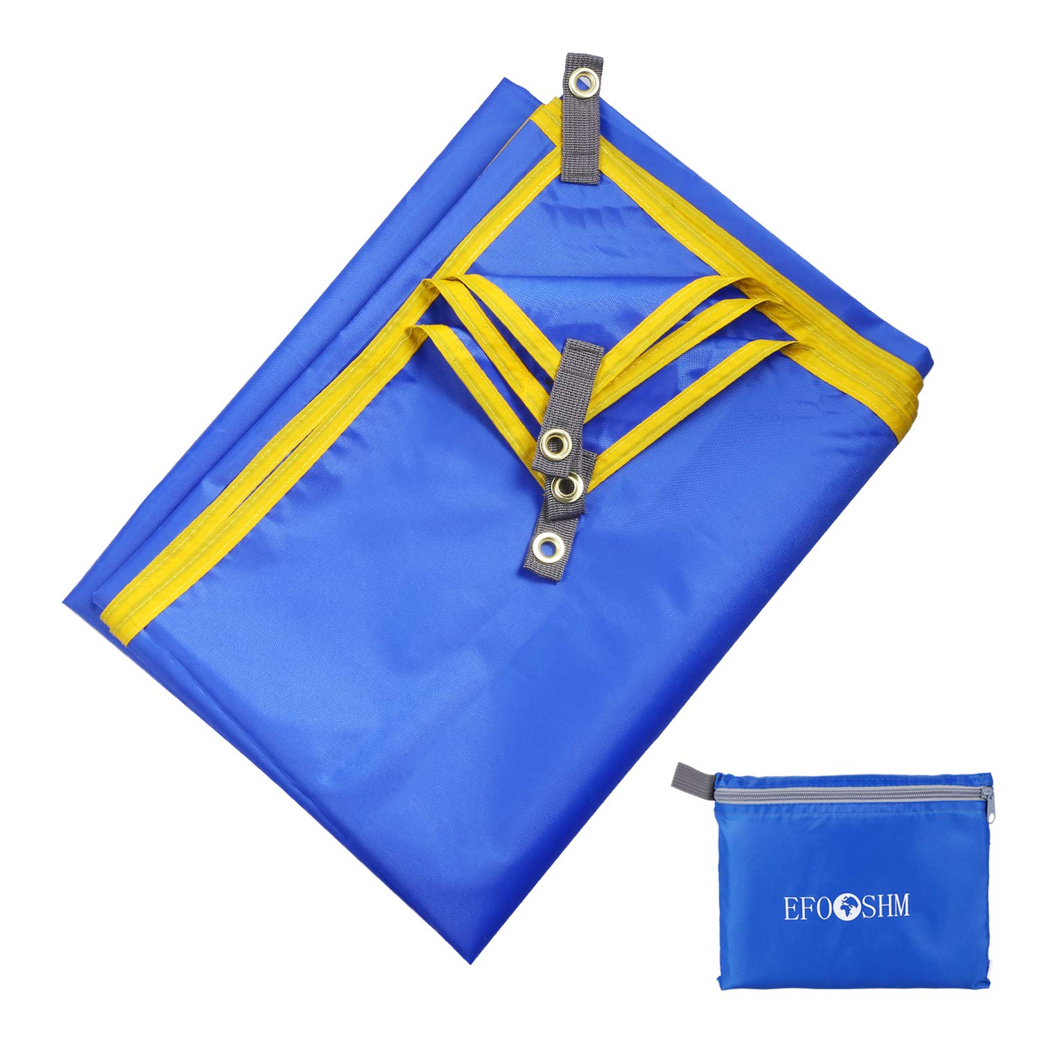 Durable Tarp with Portable Pouch Hiking and Music Festivals Huge Ground Cover- Sand Proof Picnic Mat for Travel EFOSHM Outdoor Beach Blanket Camping