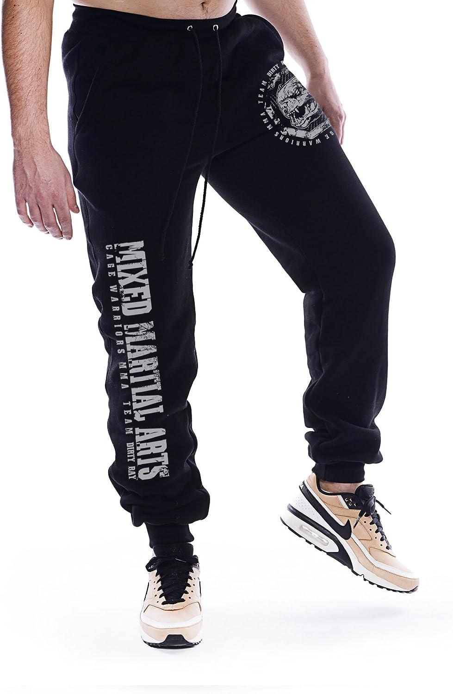 Dirty Ray Artes Marciales MMA pantal/ón de ch/ándal hombre con bajo el/ástico SDMMA2BS