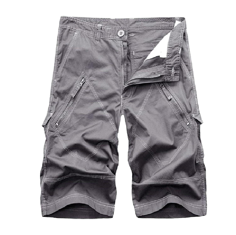 a8985bc477 Abetteric Mens Plus Size Cargo Twill Pant Pocket Back Cotton Boardshorts