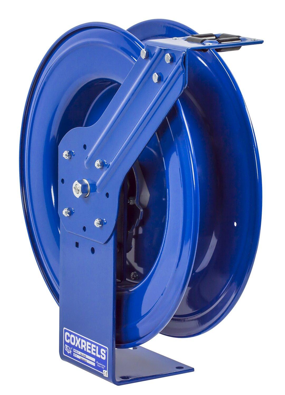 Coxreels SHL-N-350 Low Pressure Spring Rewind Hose Reel with Super Hub(TM): 3/8'' I.D, 50' hose capacity, less hose, 300 PSI
