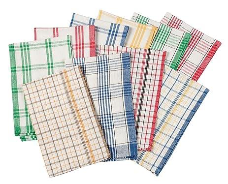 Merveilleux WalterDrake Plaid Kitchen Towels, Set Of 10