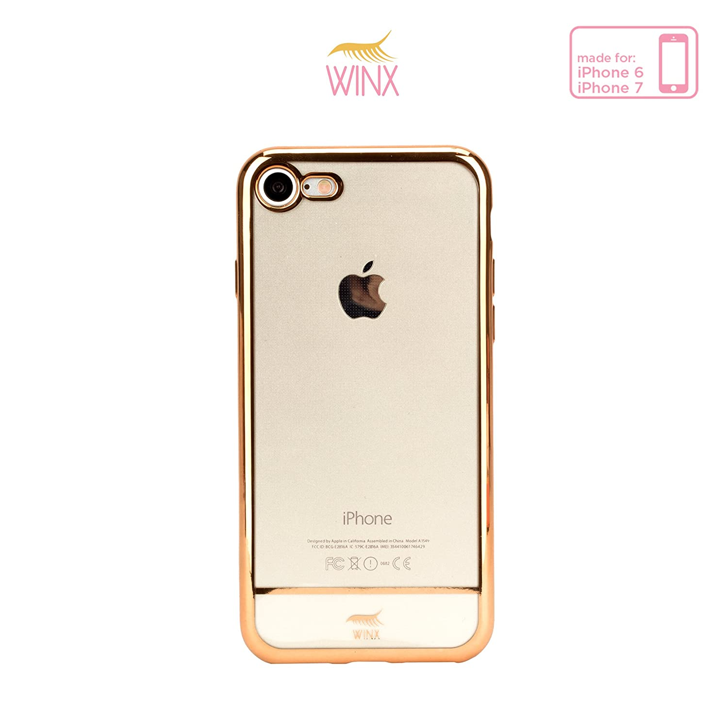 Amazon Winx Luxie Clear Case for iPhone 6 7 Gold Cell Phones