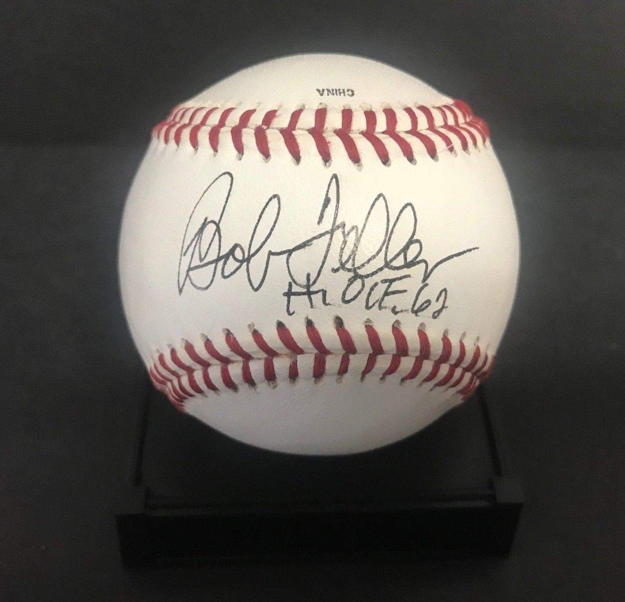 Bob Feller HOF 62 Signed Autographed on Babe Ruth League Baseball