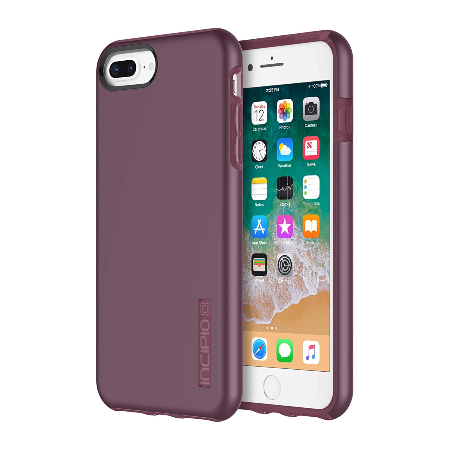 sale retailer 7c07e c127e Incipio DualPro iPhone 8 Plus & iPhone 7/6/6s Plus Case with  Shock-Absorbing Inner Core & Protective Outer Shell for iPhone 8 Plus &  iPhone 7/6/6s ...