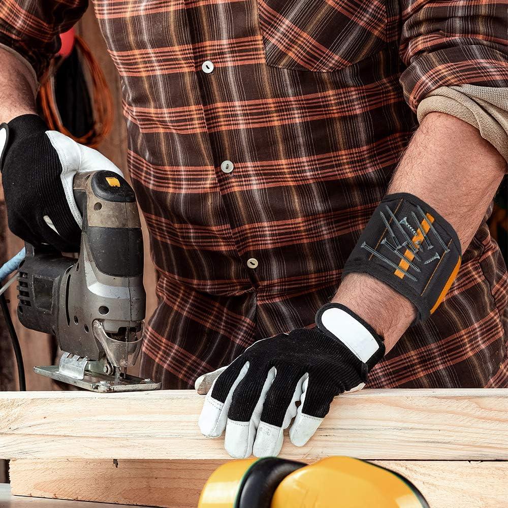 Frauen Freund beste Werkzeug-Organizer und Geschenk f/ür Heimwerker Ehemann Vater M/änner Bohrern Magnetisches Armband mit 15 starken Magneten zum Halten von Schrauben N/ägeln