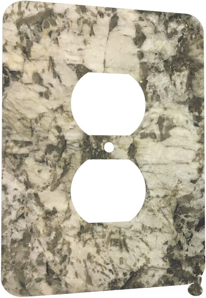 Granite Bianco Antico - Decor Wall Plate Cover Metal (1 Gang Duplex A/C)