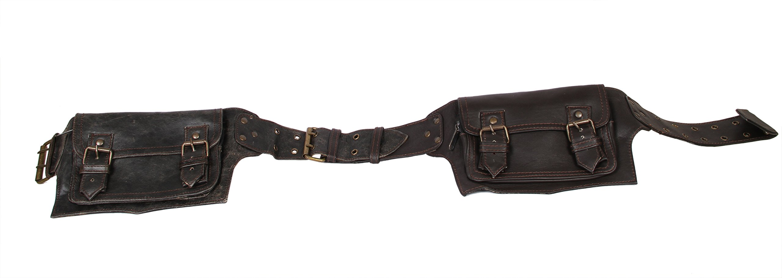 Mens Boys Vintage Leather Messenger Belt Sling School Belt Leather Pouch Messenger Belt Great Christmas Birthday Gift for Families and Friends
