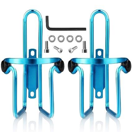 c6af4df2f0 Ibuger Bike Water Bottle Cages, Bike Bicycle Lightweight Aluminum Alloy  Bottle Holder Cages for Outdoor