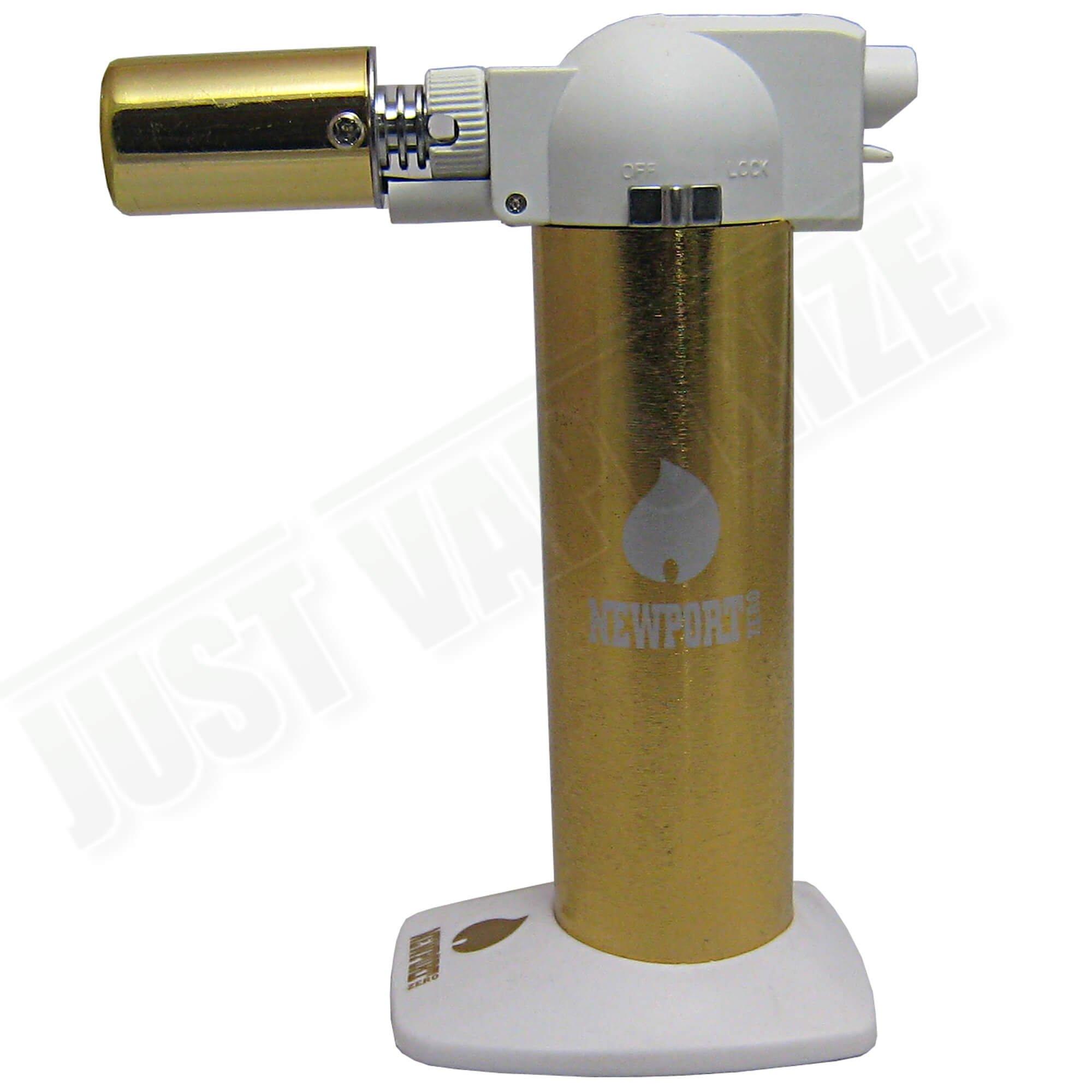 Newport Zero 6'' Butane Torch Lighter - Gold