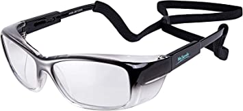 Mysandy Safety Glasses For Work Reduce Eye Strain Anti Fog Safety Goggles With Adjustable Arms Lanyard Eye Protection Indoor Outdoor Anti Scratch Lens Ansi Z87 1 Small Size Grey Amazon Com