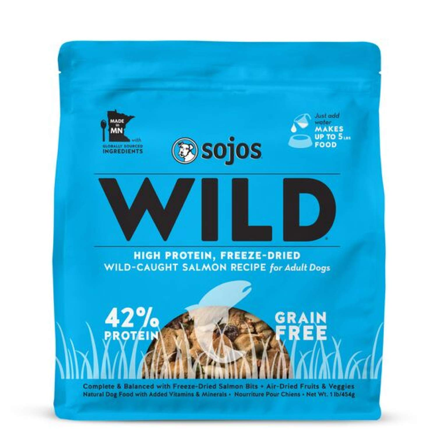 Sojos Wild Natural Freeze-Dried Raw & Dehydrated High Protein Dog Food