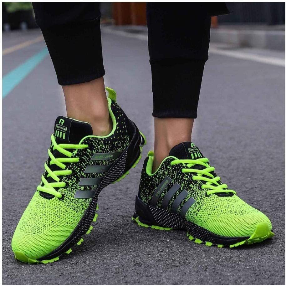 WAXFAS Men\'s Sports Shoes Ultra Light Running Shoes Autumn and Winter Ladies Sports Breathable Outdoor Tennis Shoes 42