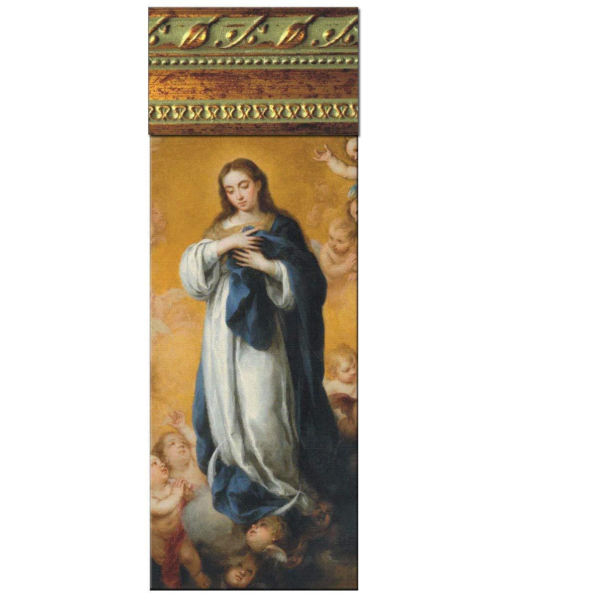 Cuadro Virgen Maria Inmaculada de la Concepción del pintor del Barroco Español Esteban Murillo. Tabla madera. Colgador triangular incluido se pueden coleccionar. Precioso.