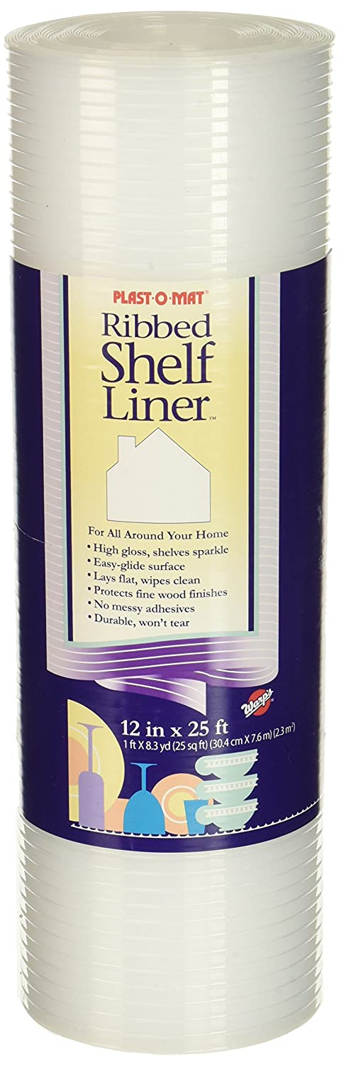 Plast-O-Mat Ribbed Shelf Liner, Clear