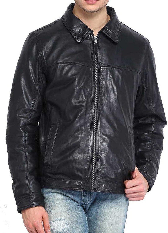 New Mens Leather Jacket Slim Fit Biker Motorcycle Genuine Leather Coat T560