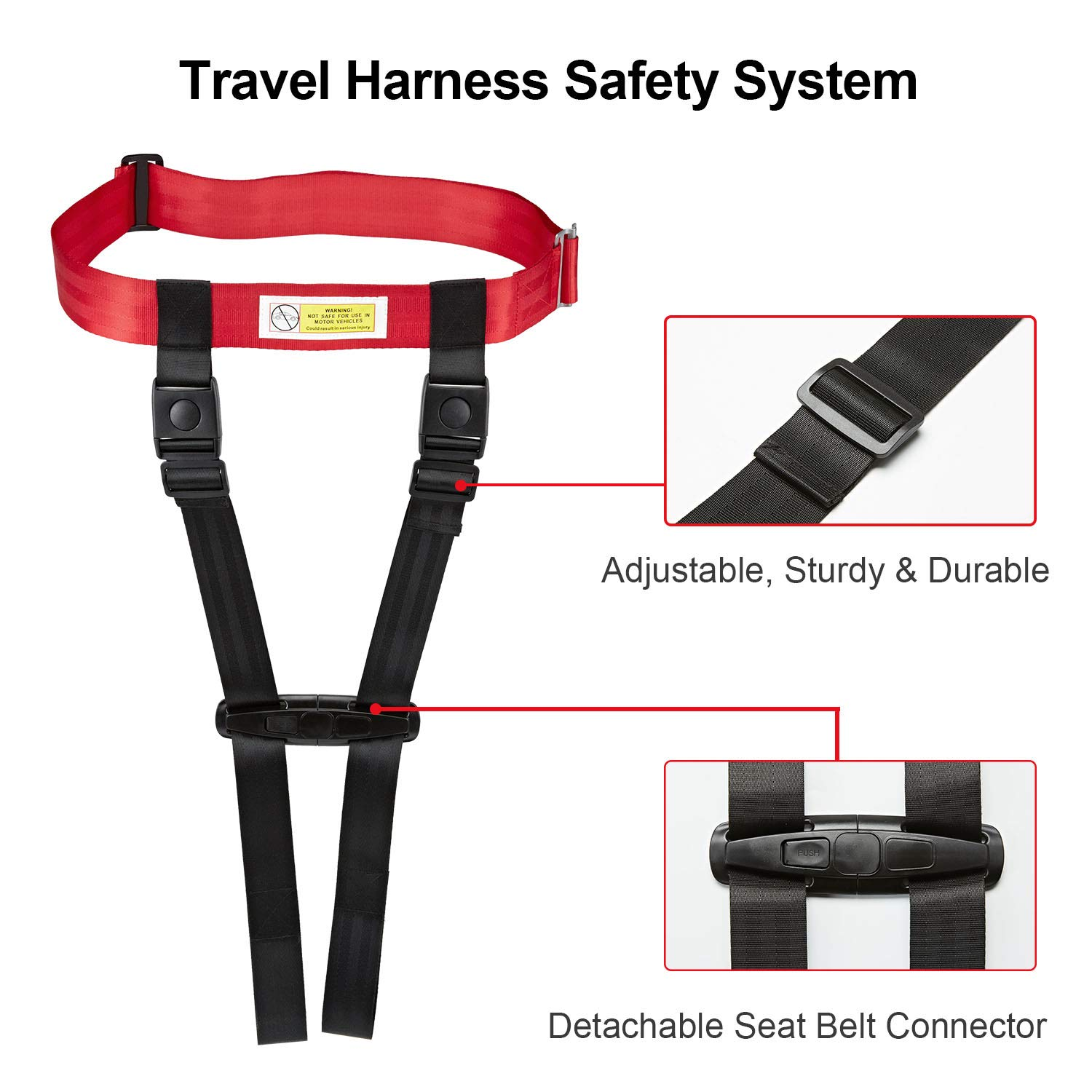 Child Safety Harness Airplane Travel Clip Strap, Travel Harness Safety System Approved by FAA, Airplane Safety Travel Harness for Baby, Toddlers & Kids by Farochy (Image #4)