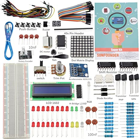 SUNFOUNDER Project - Kit de componentes para Arduino UNO R3 ...