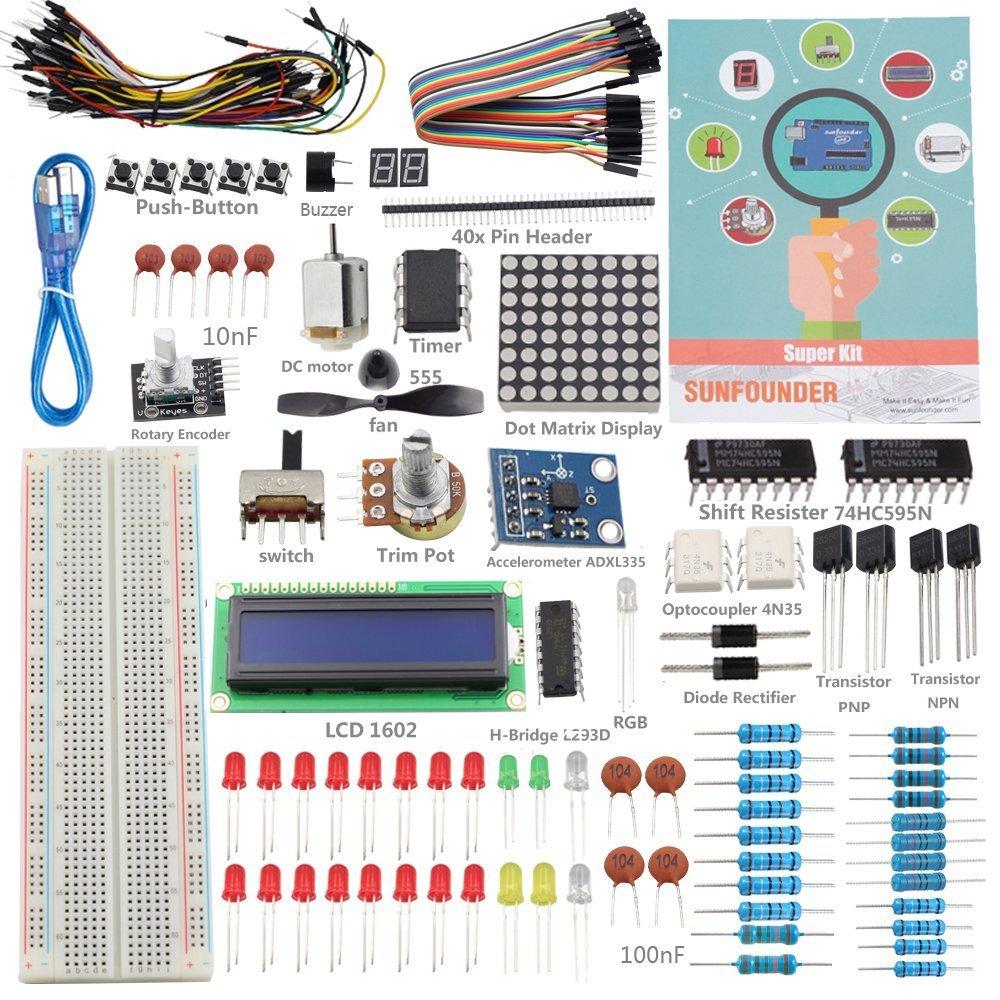 SunFounder Project - Kit de componentes para Arduino UNO R3: Amazon.es: Informática