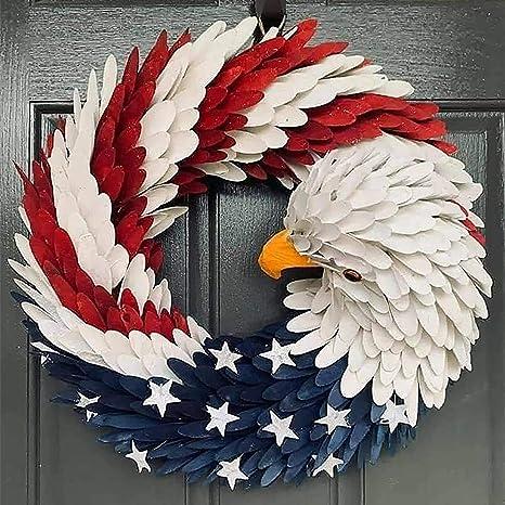 Flag Wreath July 4th Wreath Summer Wreath America Wreath Memorial Day Wreath Patriotic Wreath 4th of July Wreath USA Wreath
