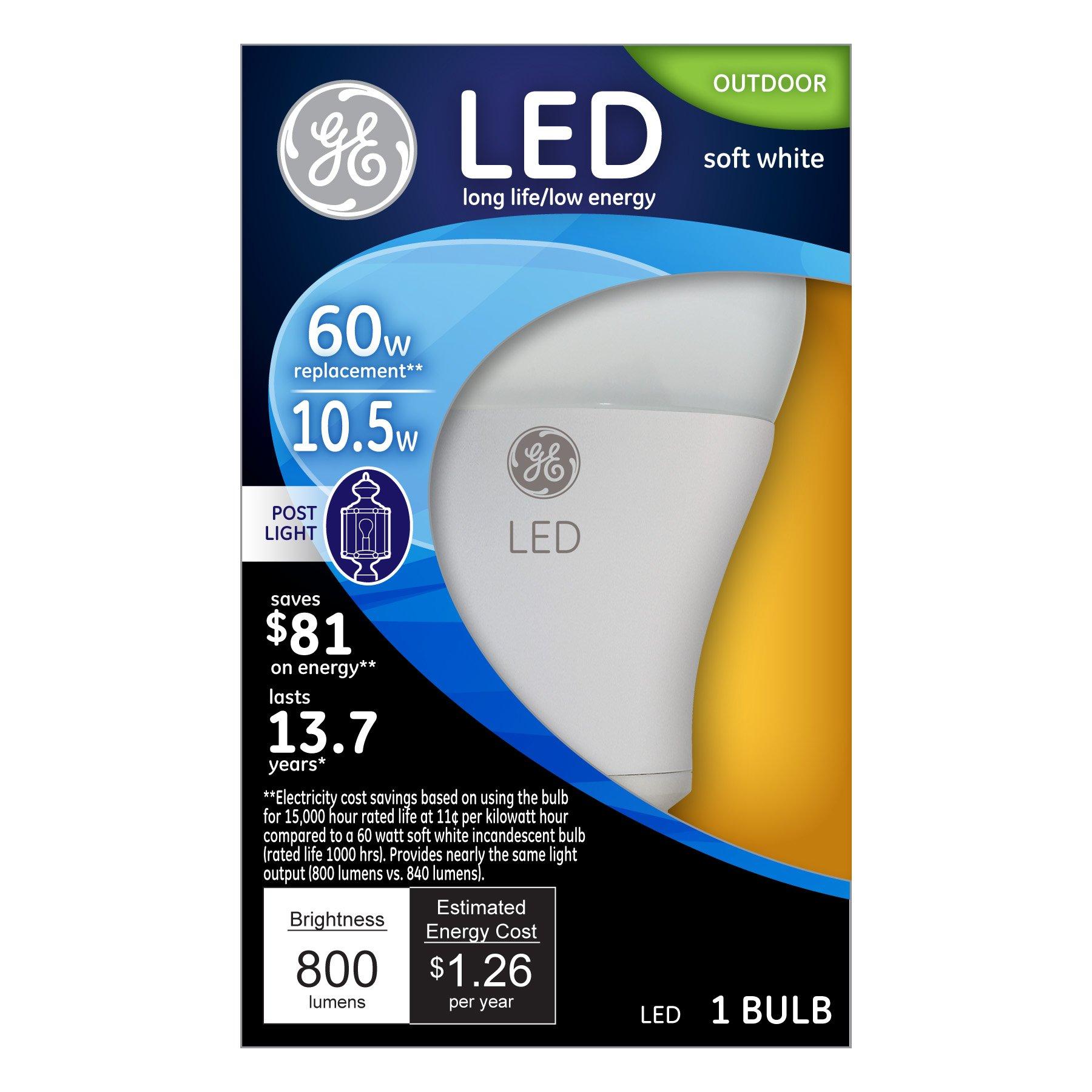 GE Lighting 92145 LED 11-watt (60-watt Replacement), 800