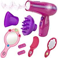 Liberty Imports Vogue Girls Beauty Salon Styling Fashion Pretend Play Set with Toy Hairdryer, Mirror and Styling…