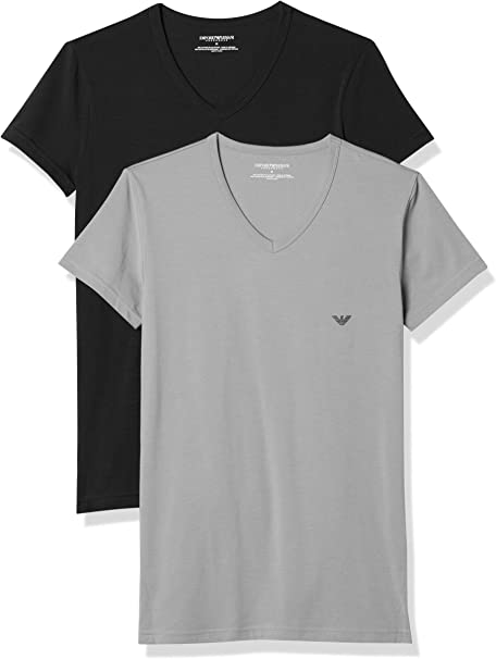 Emporio Armani Camiseta Interior (Pack de 2) para Hombre: Amazon ...