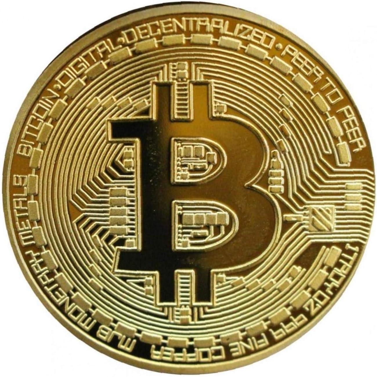 Moneta fisica Bitcoin oro in rame : scrivendovolo.it: Giochi e giocattoli