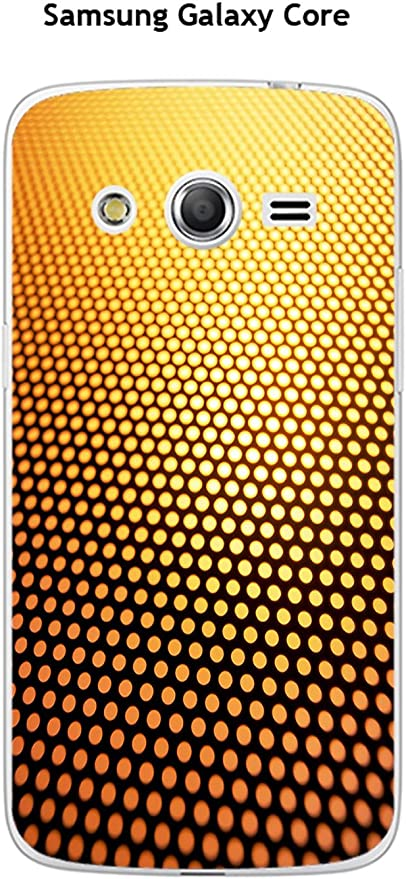 Coque Samsung Galaxy Core 4G LTE-SM 386F design Degrade or & noir ...