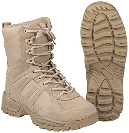 331a109333d597 Image Unavailable. Image not available for. Color: CamoOutdoor Security  Police Army Combat Leather Boots Generation II Mens Tactical Khaki Size 13