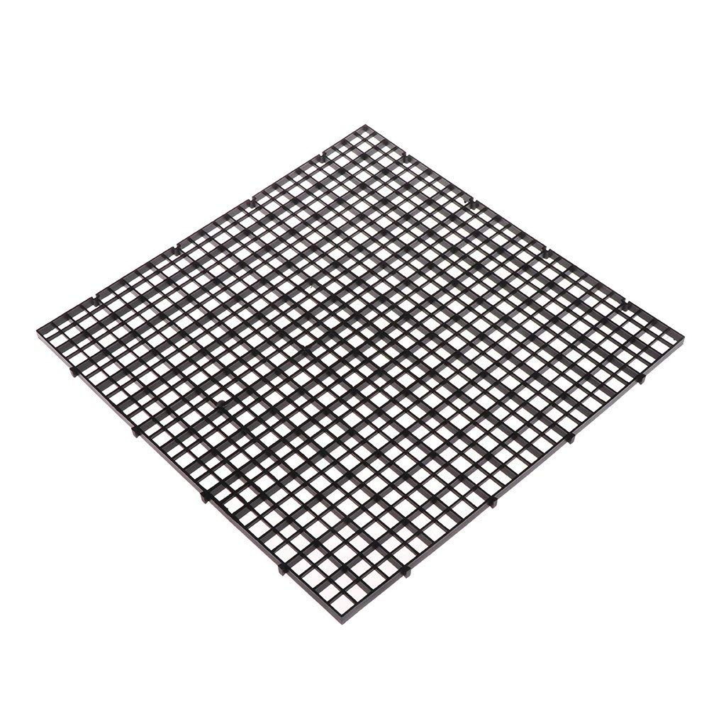 Yevison Aquarium Fish Tank Isolation Net, Divider Filter Board Net Divider Holder Black 30cmx30cm Premium Quality by Yevison