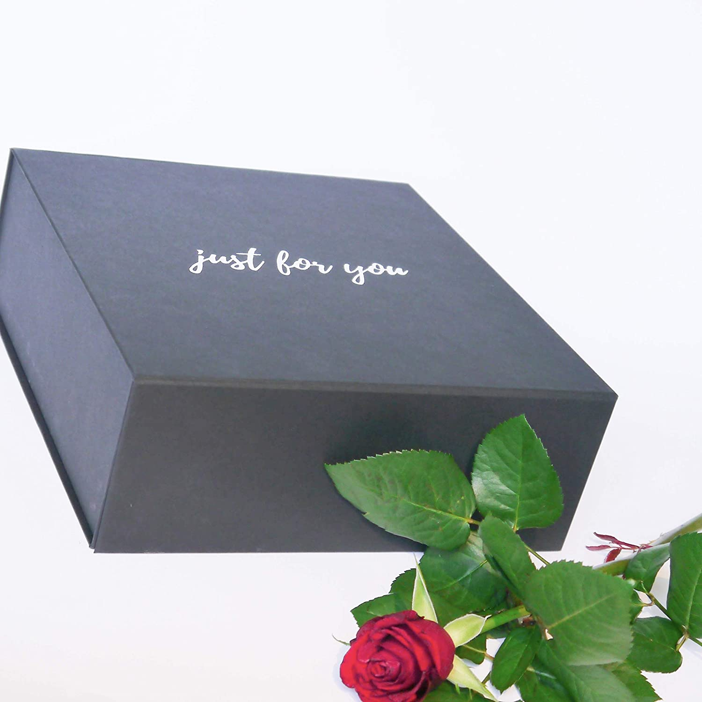 Party Magnetverschluss Geburtstag Just For You Geschenkbox 25x25x9 cm